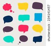 colorful questions speech... | Shutterstock .eps vector #234141457