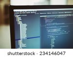 web site codes on computer... | Shutterstock . vector #234146047