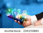 smartphone with finance and... | Shutterstock . vector #234153883
