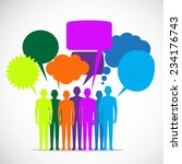 people colorful speech bubbles | Shutterstock .eps vector #234176743