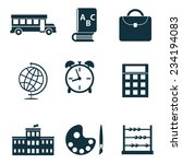school isolated icons set... | Shutterstock .eps vector #234194083