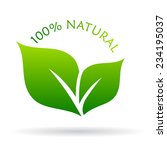 100 natural icon | Shutterstock .eps vector #234195037