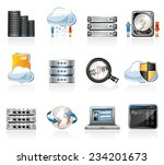 web hosting icons | Shutterstock .eps vector #234201673