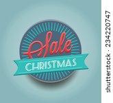 christmas poster sale... | Shutterstock .eps vector #234220747
