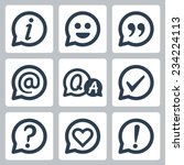 symbols in speech bubbles...   Shutterstock .eps vector #234224113