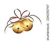 golden christmas bells with... | Shutterstock .eps vector #234250747
