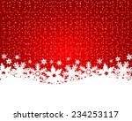 christmas red background  | Shutterstock .eps vector #234253117