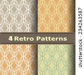 set of four seamless pattern in