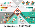 finance infographic set with... | Shutterstock .eps vector #234271843