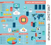 data infographic set with cloud ... | Shutterstock .eps vector #234271867