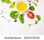 Salad  With Dressing Olives An...