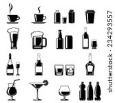monochromatic icons set of some ... | Shutterstock .eps vector #234293557