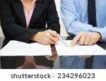 businessman and businesswoman... | Shutterstock . vector #234296023