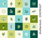Flat Design Nature Icons For...
