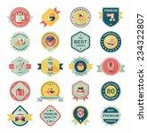 valentine's day badge flat... | Shutterstock .eps vector #234322807