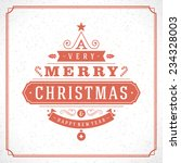christmas tree typography from... | Shutterstock .eps vector #234328003