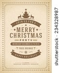 christmas party invitation... | Shutterstock .eps vector #234328987