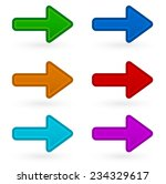 colorful arrows | Shutterstock .eps vector #234329617