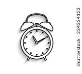 alarm clock   vector icon with... | Shutterstock .eps vector #234334123