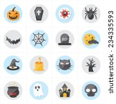 flat icons for halloween icons...   Shutterstock .eps vector #234335593