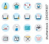 flat icons for laundry and...   Shutterstock .eps vector #234339307