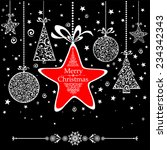 Vintage Christmas Card. Vector...