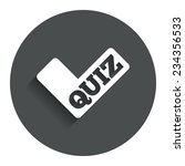 quiz check sign icon. questions ...