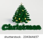 christmas tree on withe... | Shutterstock . vector #234364657