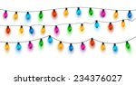 christmas lights background.... | Shutterstock .eps vector #234376027