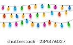 Christmas lights background. Vector  | Shutterstock vector #234376027
