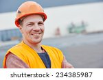 adult construction manager or... | Shutterstock . vector #234385987