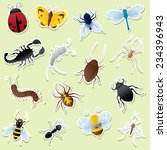 insect icons. simple gradients  ... | Shutterstock .eps vector #234396943