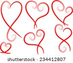 vector hearts | Shutterstock .eps vector #234412807