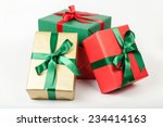 pile of christmas presents... | Shutterstock . vector #234414163