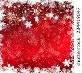 christmas background with bokeh ... | Shutterstock . vector #234419047