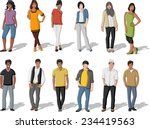 group of cartoon young people | Shutterstock .eps vector #234419563