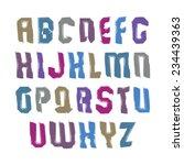 handwritten colorful vector... | Shutterstock .eps vector #234439363
