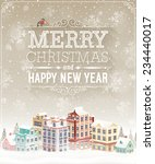 christmas card with cityscape... | Shutterstock .eps vector #234440017