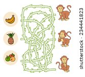 Maze Game  Monkeys And Food