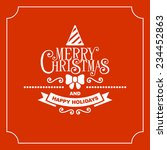 red christmas greeting card... | Shutterstock .eps vector #234452863