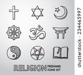 world religion hand drawn... | Shutterstock .eps vector #234465997
