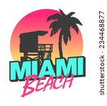 miami beach | Shutterstock .eps vector #234468877