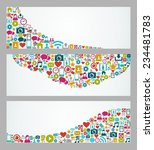 social media web banners set... | Shutterstock . vector #234481783