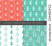 et of simple christmas patterns ... | Shutterstock .eps vector #234482923