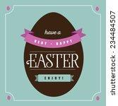 Flat Chocolate Easter Egg...