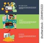 flat design concept of business ... | Shutterstock .eps vector #234491023