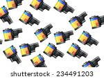 classic film canister pattern. | Shutterstock . vector #234491203