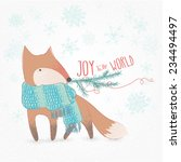 joy to the world doodle... | Shutterstock .eps vector #234494497