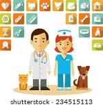 veterinary concept with doctor  ... | Shutterstock .eps vector #234515113