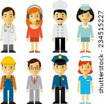 different people professions... | Shutterstock .eps vector #234515227